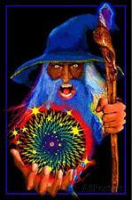 Mystic Wizard Flocked Blacklight Poster Blacklight Poster Print, 23x35