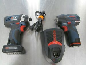 Bosch PS82 12V Brushless 3/8 Impact Wrench PS41 12V Max 1/4-Inch Hex Impact Driv