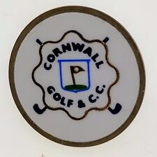Cornwall Golf and Country Club Pin VTG Round Souvenir Member Ontario Club Flag