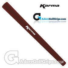 Karma Smoothie Paddle Putter Grip-marron chocolat + Gratuit Ruban