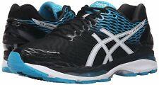 Asics Mens Gel-Nimbus 18 Running Shoes Black/White/Island Blue T600N-9001 Sz 14