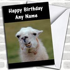 Funny Teeth Llama Birthday Customised Card