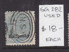 Nsw: Half Penny On One Penny Surcharge, Used Sg 282 Used