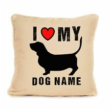 More details for gift for dog basset hound personalised dog cushion present for lover or owner