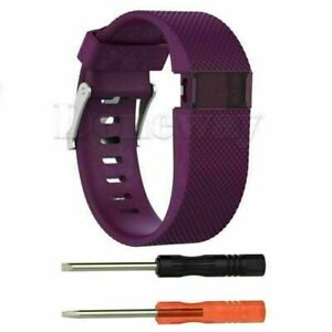 Replacement Silicone Wristband Strap Watch Band For Fitbit Charge HR Tracker