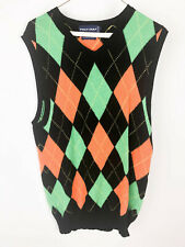 POLO GOLF Ralph Lauren Mens Argyle Sweater Vest Sleeveless Small Medium Wool