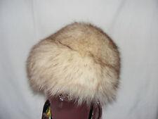 Genuine Vintage SILVER FOX Fur Hat EATON'S Lady Cap Headgear Outdoor Tuque