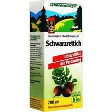 SCHWARZRETTICH Saft Schoenenberger 200ml PZN 692328
