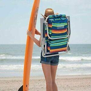 ⛱️⛱Tommy Bahama Backpack Beach Folding Chair Blue, Green, Flower, Pineapple 🍍🍍