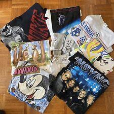 wholesale lot vintage t shirts (8 items) Nike, Disney, Nsync, Stanley Desantis