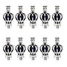 K536 10X/lot Silver Alloy 26mm Hot Air Balloon Pearl Beads Cage - Wholesale
