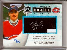 2013-14 The Cup Auto Draft Boards Nathan Beaulieu RC /25 Montreal CANADIENS