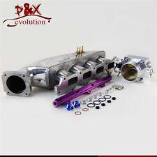 PL Fuel Rail &80mm Throttle Body & Intake for Mitsubishi CE9A EVO 1 2 3 4G63