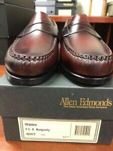 Men's Allen Edmonds Walden Penny Loafer in Burgundy