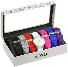 XOXO Women's XO9043 Multi Color Silicone Rubber Interchangeable Strap Set Watch