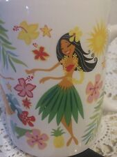 "Hawaii ""Island Hula Honeys"" ABC Store 12 oz Mug Cup Grass Skirt Flowers Palms"