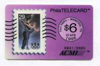 1995 Olympic Skating $6.00 Phone Calling Card ACMI Telecard - Issue of 2,000