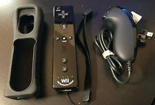 GENUINE Nintendo Wii Controller Motion Plus Wiimote Black w/ Nunchuck - Tested