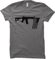 Rifle American Flag - Freedom USA Guns Womens T-shirt