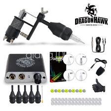 Dragonhawk Complete Tattoo Kit Motor Machine Gun Power Supply Needles Grips