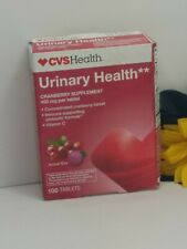 Cvs Urinary Health Cranberry Supplement 100 Tablet Box Slightly Damage Exp 08/20
