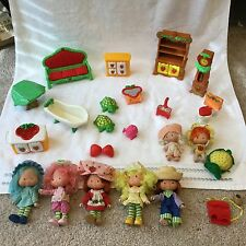 Vintage Strawberry Shortcake DOLL + FURNITURE Lot 23 pieces