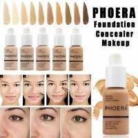PHOERA Foundation Concealer Make Up Soft Brighten Matte Full Coverage Liquid