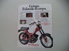 advertising Pubblicità 1980 CIMATTI GRINGO 86 50 cc