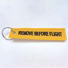 MonkeyEAT Remove Before Flight Key Chain Yellow