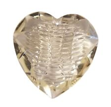 Lot of 8 Crystal Clear 40mm Large Acrylic Plastic Heart Beads Pendants Charms