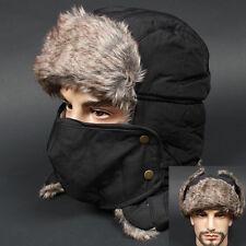 Ear Flap MDF BLACK Chullo Skull Beanie Russian Hat Cap Ear Warmer Outdoor
