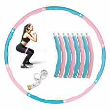 New Weighted Exercise Fitness Hoola Hoop 8 Section Detachable Exercise Hoop