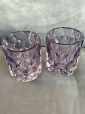 Yankee Candle Pearlescent Crackle Purple Votive Holder