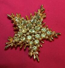 AMAZING B.S.K SIGNED PIN WITH JAW DROPPING AND UNUSUAL STONES AND FAUX BEADS