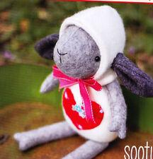 PATTERN - Sooty  - cute wool felt lamb softie/toy PATTERN - May Blossom