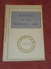 Magic of the Depots - 1924 compiled by Harry Leat Near Fine British magician