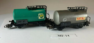 Two Marklin HO Scale Total and BP Tank Cars MF-14