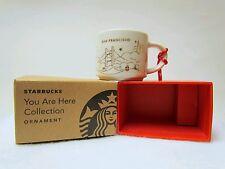 "Starbucks Christmas Ornament Mini City Mug ""You Are Here"" YAH 2014 San Francisco"