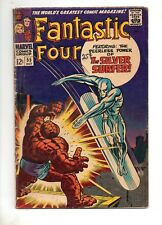 Fantastic Four #55 VG 4.0 4TH APP SILVER SURFER 1966 THING vs SURFER BATTLE!