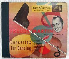 Vintage FREDDY MARTIN Piano Concertos for Dancing RCA Black Label 4 Record Set