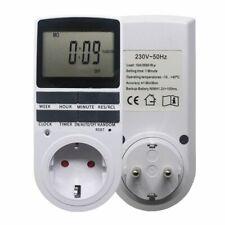 Electrónica interruptor de salida Temporizador Digital Enchufe EU FR BR Programable socket de sincronización