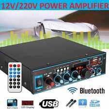 Auto HiFi bluetooth Audio Amplifier Verstärker Stereo 12V/220V 800W USB HOT NEU