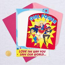Hallmark Birthday Card for Kids - SuperGirl, BatGirl, Wonder Woman MAGNET