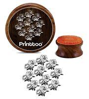 Printtoo Round Rose Blumenmuster Karte machen aus Holz Stempel Handwerk-j6H