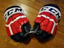 Rochester Americans Amerks Pro Stock Hockey Gloves -CCM HG50PP 14 red white blue