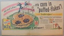 Kix Cereal Ad: Kix Cereal from 1930's-1940's 7.5 x 15 inches