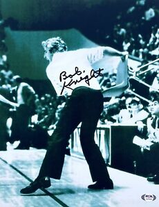 BOB KNIGHT SIGNED INDIANA HOOSIERS 11x14 BASKETBALL PHOTO PSA/DNA CHAIR THROW