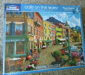 2019 White Mountain CAFE ON THE WATER 1000pc Jigsaw Puzzle by Image World NEW