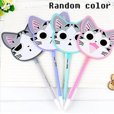 1Pc Cat Fan Sign Pen Ballpoint Pens Student Stationery Write Tool Office Supply