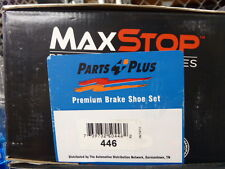 BRAND NEW MAXSTOP 446 REAR DRUM BRAKE SHOE SET FITS VEHICLES ON CHART